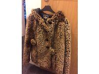 River island leopard print coat. Size 10