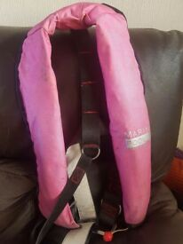 ISO Automatic Life Jacket with harness pink