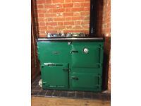 Oil fired Rayburn range cooker