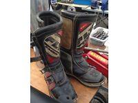 Motocross bike boots