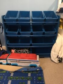 Next toy storage tub unit
