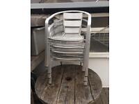 4 garden chairs ,
