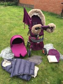 Stokke xplory v3 full set in purple