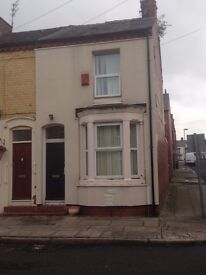 2 Bedroomed End Terrace House Gas CH, D/G, Fit/Kitchen - Hinton Street, Fairfield, Liverpool L6 3AP