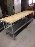 Table De Travail en Bois 8' Wood top Work Table