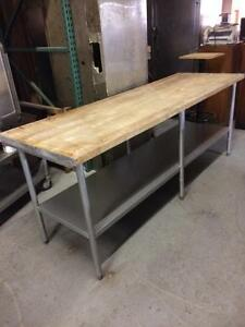 Table De Travail en Bois 8' Wood top Work Table