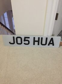 JO5HUA number plate