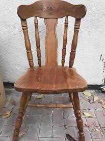 Farmhouse round table and 4 chairs solid upcycle project