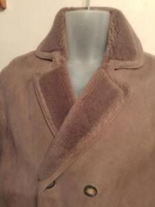 Oakville Mens Medium 40 Napa Sheepskin SHEARLING Coat M Sawyers Thick Warm Canada Brown Elkhorns