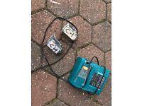 Makita batteries and charger