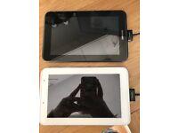 """Samsung galaxy tab2 7"""" 8mg x 2 black + white"""