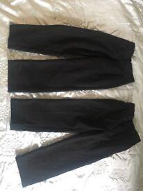 Boys 5-6 black trousers