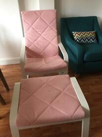 IKEA chair & matching footstool - A COMPLETE STEAL at this PRICE!!!!!