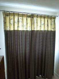 Brand new fully lined curtains. From show home.