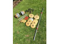 barbell and dumbbell York set