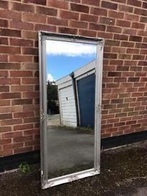 Large Silver Mirror