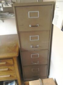 Four 4 drawer filing cabinet