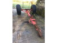 Slurry tanker axle and wheels