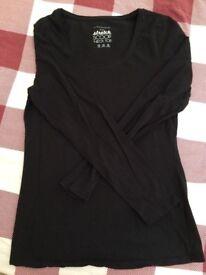 Long sleeves Black T-Shirt