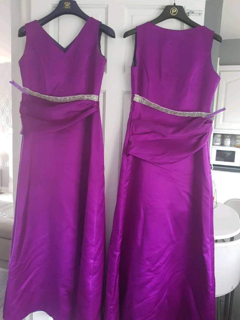 2x Cadbury purple bridesmaid dresses | in Bellshill, North ...