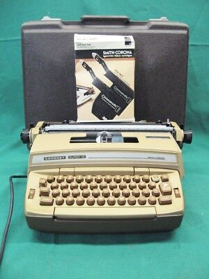 Brown - Smith Corona Coronet Super 12 Electric Typewriter Tested Guaranteed
