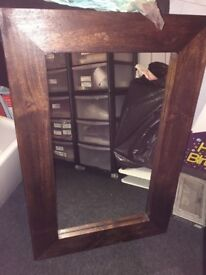 Solid mango wood mirror