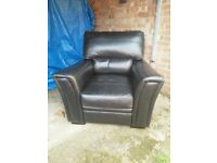 Black leather armchair FREE DELIVERY