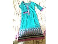 Blue asian clothes