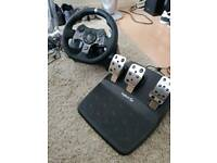 Logitech G920 Racing Wheel & Pedals