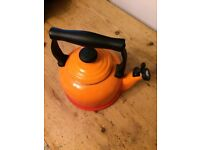 LE CREUSET ~ Volcanic Orange BN 2.1 Ltr Stove Top Kettle