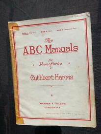The ABC Manuals for Pianoforte - Cuthbert Harris - Vintage Sheet Music - Book A