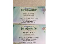 2 x BST Hyde Park Michael Buble Primary Entry Fri 13th July 1pm