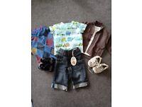 Baby boy clothes bundle including shoes