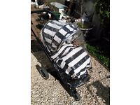 Oyster 2 Pram - Good Condition - Humbug Colour with Rain Cover, Foot Muff, etc