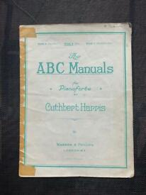 The ABC Manuals for Pianoforte - Cuthbert Harris - Vintage Sheet Music - Book B