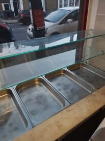 Curved display freezers
