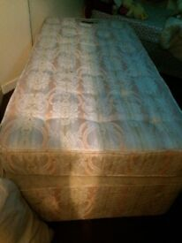 Single bed, mattress & base