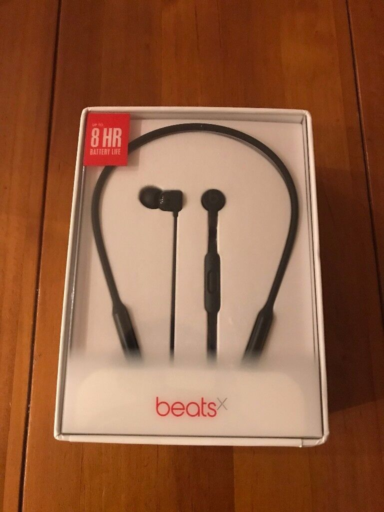 Brand New Unopened Beats by Dr. Dre BeatsX In-Ear Wireless Headphones. Black. Sealed.