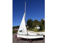 GP14 sailing dinghy in GRP
