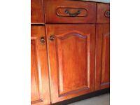 Solid Oak Kitchen Cupboard Doors Replacement Used