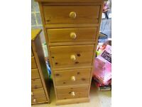 Solid Pine Chest of Drawers Tallboy
