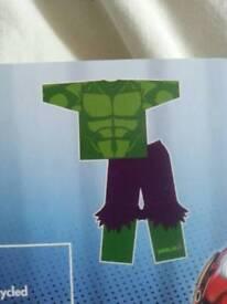 NEW 7 8 9 Incredible Hulk pyjamas dressing up book day