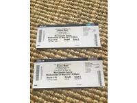 Bruno Mars 24k tour x2 block 115 Row B Seats 3&4 Manchester arena 3rd may 07393471927
