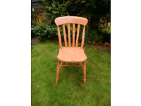 CAN DELIVER Vintage Wooden Chair Shabby Chic Project Dining Bedroom Office Kitchen