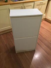 Ikea White shoe cupboard