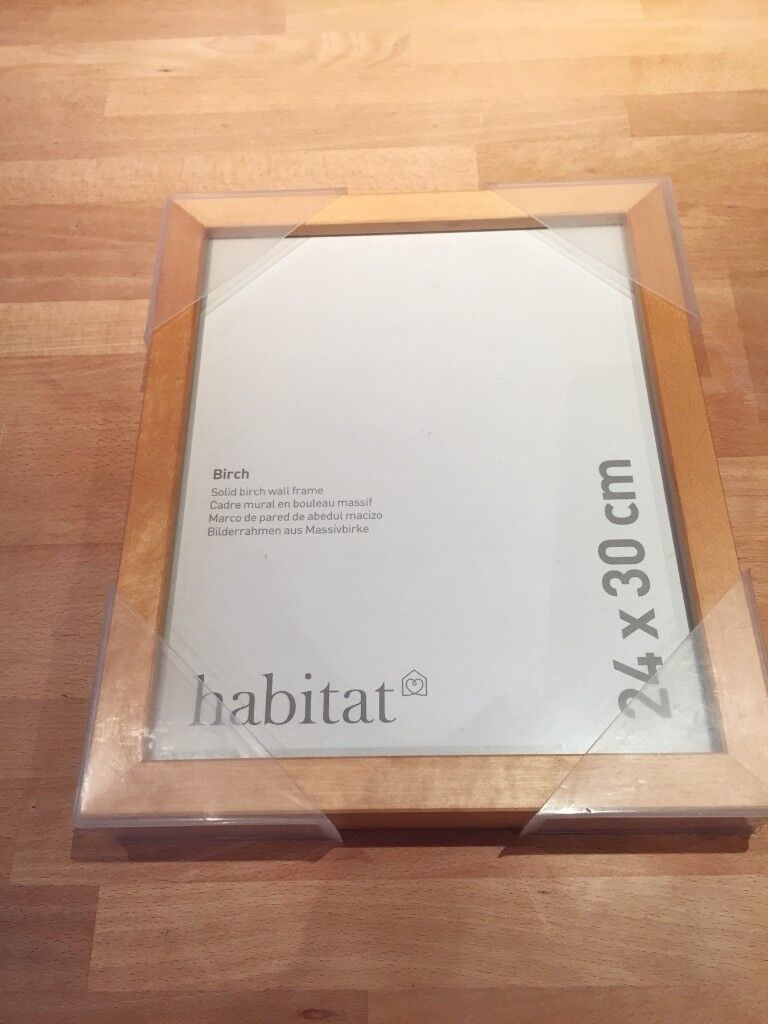 2 X Brand New Habitat Birch Wood Picture Frames Purchased For 40