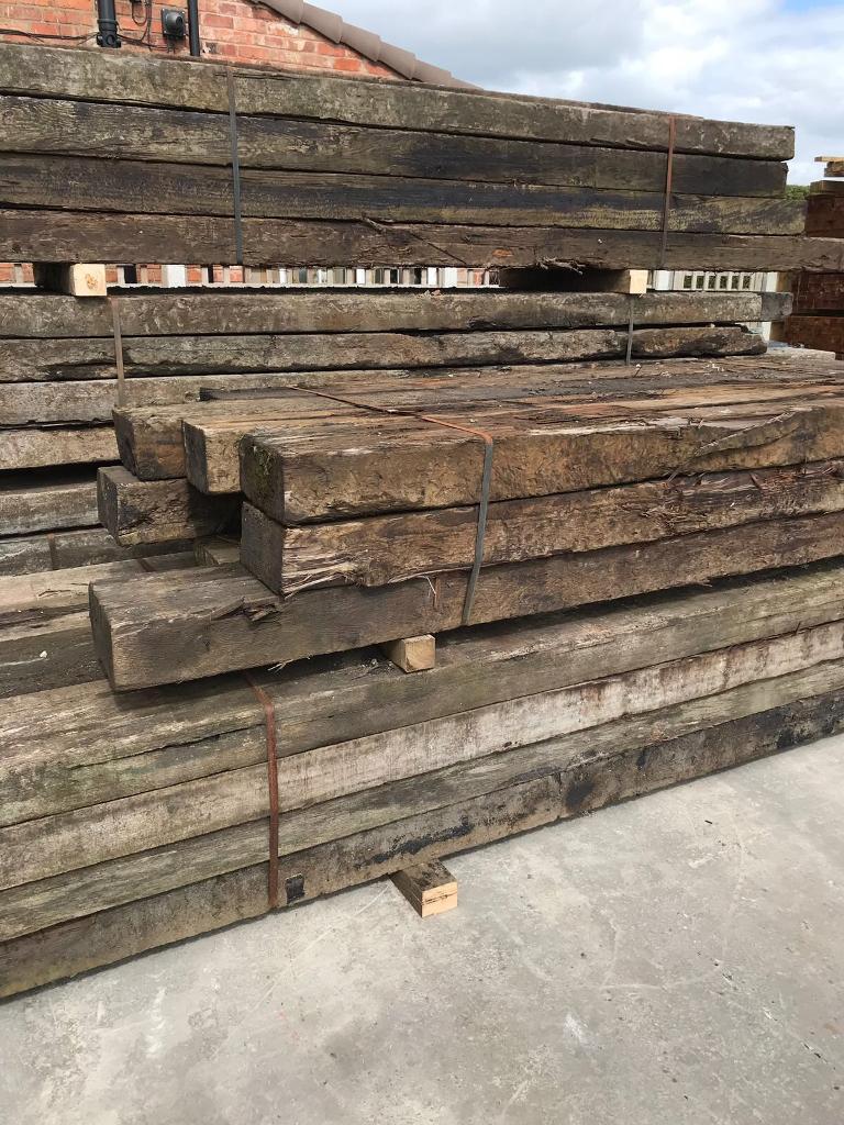 🌻 •Used• Wooden/ Timber Railway Sleepers