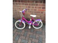 girls raleigh bike 14inch wheel