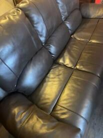 3 piece leather suite recliner