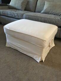 Ikea EKTORP white foot stool